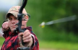 shooting a bow with back tension